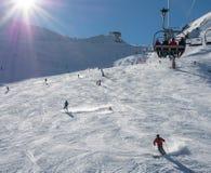 安道尔-滑雪 免版税库存图片