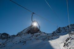 安道尔-滑雪 库存照片