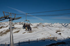 安道尔-滑雪 免版税库存照片