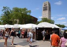 安阿伯艺术市场和校园 库存图片