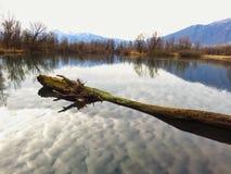安静和相当 博列di Magadino,提契诺州 瑞士 图库摄影