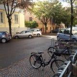 安静的居民街道 免版税库存图片