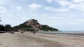 安静的海沙和太阳 库存图片