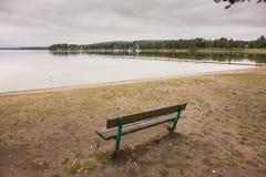 安静的海滩 库存图片