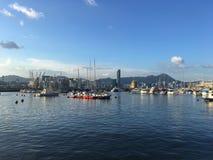 安静的港口在香港 免版税图库摄影