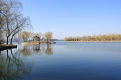 安静的湖 库存图片