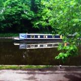 安静的运河旅途 免版税库存图片