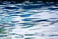 安静起波纹的水 免版税库存照片