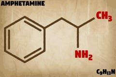 安非他明分子的详细的例证  向量例证