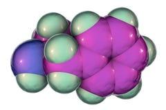 安非他明分子,中央神经系统一种强有力的兴奋剂  向量例证