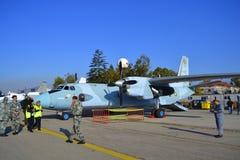 安-26军用运输机 免版税库存图片