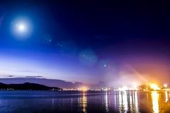 宋卡是城市在泰国湾附近 湖wa 库存照片