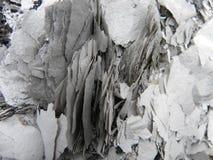 完全地被烧的老纸 免版税库存照片