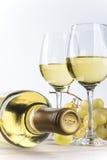 完全白葡萄酒 免版税图库摄影