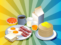 完全的早餐 图库摄影