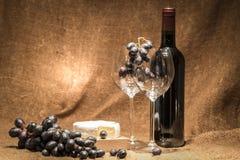 完全红葡萄酒 库存照片
