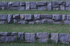 完全被排列的石台阶 库存图片