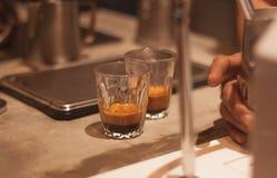 完善的双重浓咖啡射击 免版税库存照片