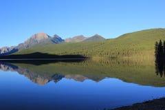 完善的反射在冰川国家公园 免版税图库摄影