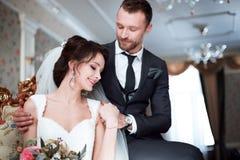 完善的婚礼夫妇 免版税图库摄影