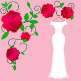 完善的新娘的完善的婚纱在她的完美的日子 向量例证