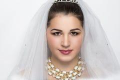 年轻完善的新娘 免版税库存图片