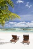 完善的海滩,拉迪格岛,塞舌尔群岛 免版税库存照片