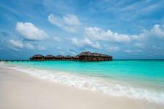 完善的热带海岛天堂海滩 库存照片