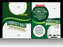 完善的高尔夫球飞行物模板 免版税库存图片