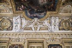 完成一块非常美好的天花板的片段 免版税图库摄影