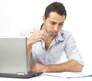 完成困难人事务的商业 免版税库存图片