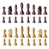 完成国际象棋棋局 库存图片