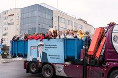 完成学校nner的芬兰高中的学校学生 图库摄影