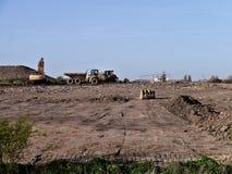 完成开垦工作的大量手段 免版税图库摄影