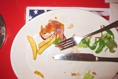 完成的美国膳食 免版税库存照片