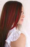 完成的颜色获得头发 免版税库存图片