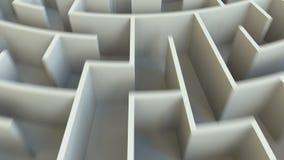 完成词在一个圆的迷宫的中心 3d翻译 皇族释放例证