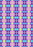完整色彩变异箱子的样式 图库摄影
