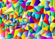 完整色彩抽象几何的背景 多角形模板设计 也corel凹道例证向量 免版税库存图片