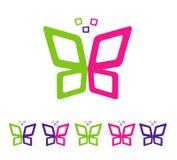 完整色彩摘要的蝴蝶 免版税库存图片