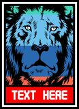 完整色彩的狮子 向量例证