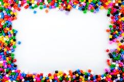 完整色彩的小珠 免版税库存照片