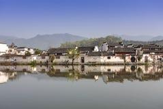 宏村,古老村庄在中国南方 免版税库存照片