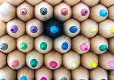宏观五颜六色的铅笔 库存照片
