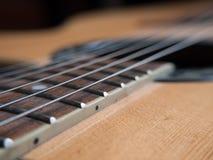 宏观吉他串 免版税库存照片