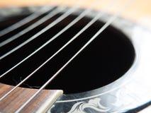 宏观吉他串 免版税库存图片