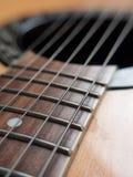 宏观吉他串 图库摄影