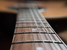 宏观吉他串 库存照片