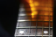 宏观吉他音乐哀情音乐 免版税图库摄影
