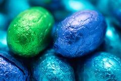 宏观复活节彩蛋的巧克力 免版税库存照片